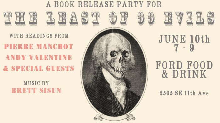 Book Release: The Least of 99 Evils
